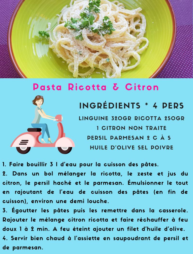 Pasta Ricotta & Citron