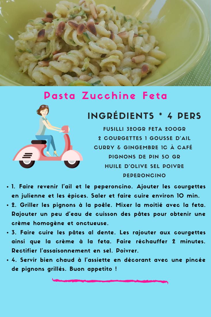 Pasta Zucchine Feta